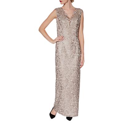 Gina Bacconi Leticia Maxi Dress And Scarf, Beige