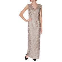 Buy Gina Bacconi Leticia Maxi Dress And Scarf, Beige Online at johnlewis.com