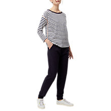 Buy White Stuff Ultimate Casual Stripe T-Shirt, Navy Online at johnlewis.com