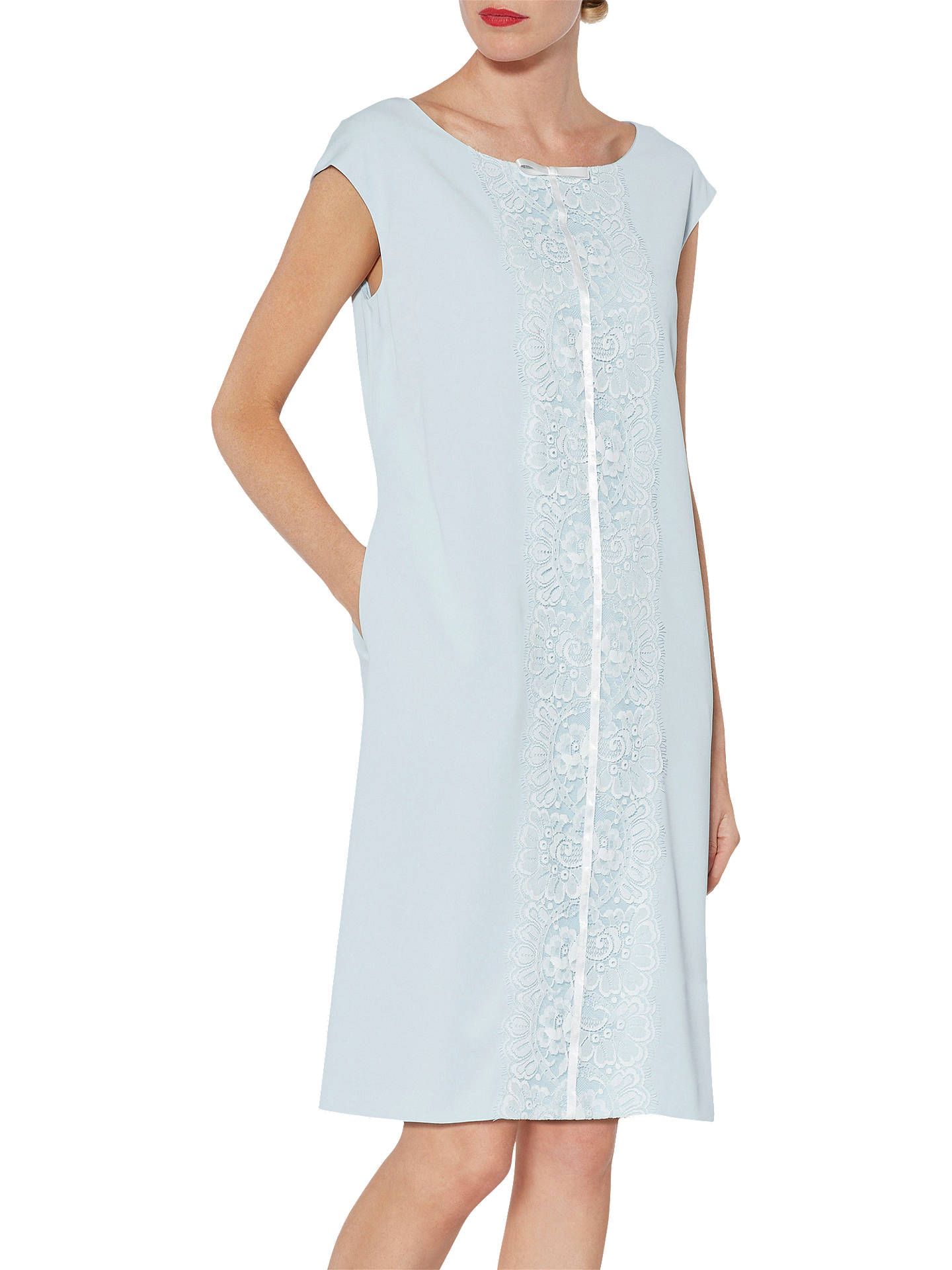 BuyGina Bacconi Isobel Lace Panel Dress, Blue Pearl, 8 Online at johnlewis.com