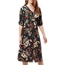 Buy Sugarhill Boutique Alice Hand Drawn Floral Midi Dress, Black/Multi Online at johnlewis.com