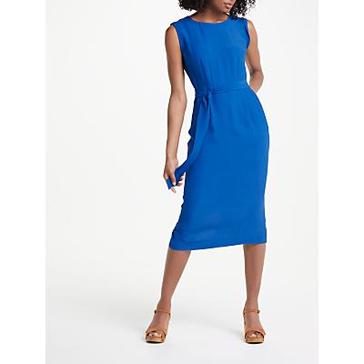 Boden Camille Tie Waist Midi Dress, Blue