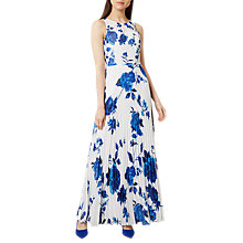 Buy Hobbs Talia Maxi Dress, Ivory Blue Online at johnlewis.com
