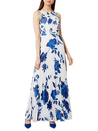 Hobbs Talia Maxi Dress, Ivory Blue
