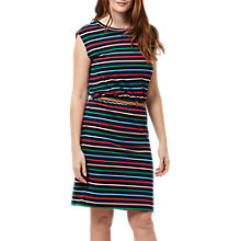 Buy Sugarhill Boutique Pure Cotton Hetty Stripe Dress, Navy/Multi Online at johnlewis.com