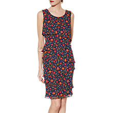 Buy Gina Bacconi Gertie Layered Chiffon Dress, Navy Online at johnlewis.com