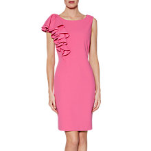 Buy Gina Bacconi Rita Asymmetric Frill Dress, Pink Online at johnlewis.com