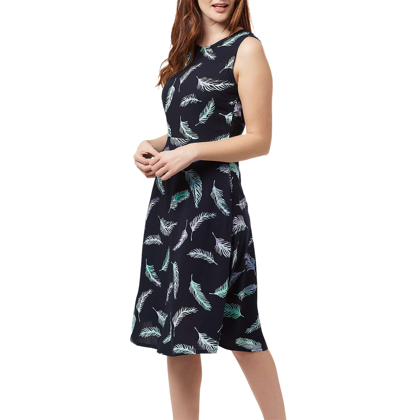BuySugarhill Brighton Wendy Batik Dress, Navy/Lilace, 8 Online at johnlewis.com