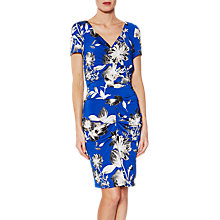 Buy Gina Bacconi Paloma Floral Jersey Dress, Royal Blue Online at johnlewis.com