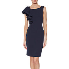 Buy Gina Bacconi Rita Asymmetric Frill Dress, Spring Navy Online at johnlewis.com
