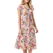 Buy Sugarhill Boutique Coraline Hand Drawn Floral Midi Dress, Pink Online at johnlewis.com