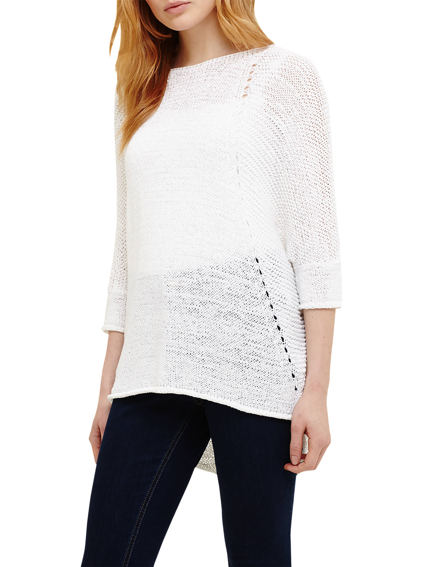 578f8bbe442b59 Buy Phase Eight Aideen Jumper, White, XS Online at johnlewis.com ...
