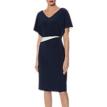 Buy Gina Bacconi Contrast Jersey Dress, Spring Navy/Indigo Online at johnlewis.com