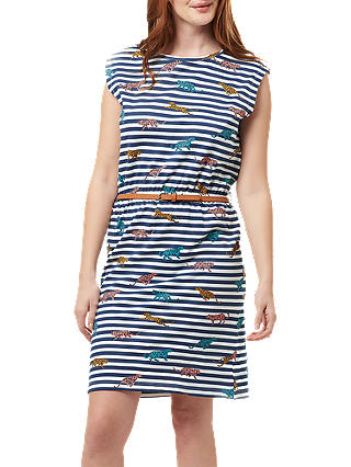 Buy Sugarhill Brighton Hetty Leopard Stripe Dress, Multi, 8 Online at johnlewis.com