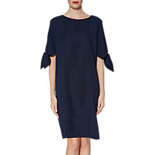 Buy Gina Bacconi Ria Crepe And Lace Dress, Spring Navy Online at johnlewis.com