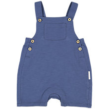 Buy Polarn O. Pyret Baby Organic Cotton Jersey Dungarees, Blue Online at johnlewis.com