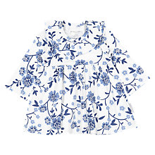 Buy Polarn O. Pyret Baby Floral Dress, White Online at johnlewis.com