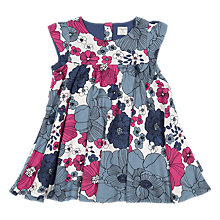 Buy Polarn O. Pyret Baby Floral Sleeveless Dress, Blue Online at johnlewis.com