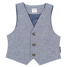 Buy Polarn O. Pyret Baby Waistcoat, Blue Online at johnlewis.com