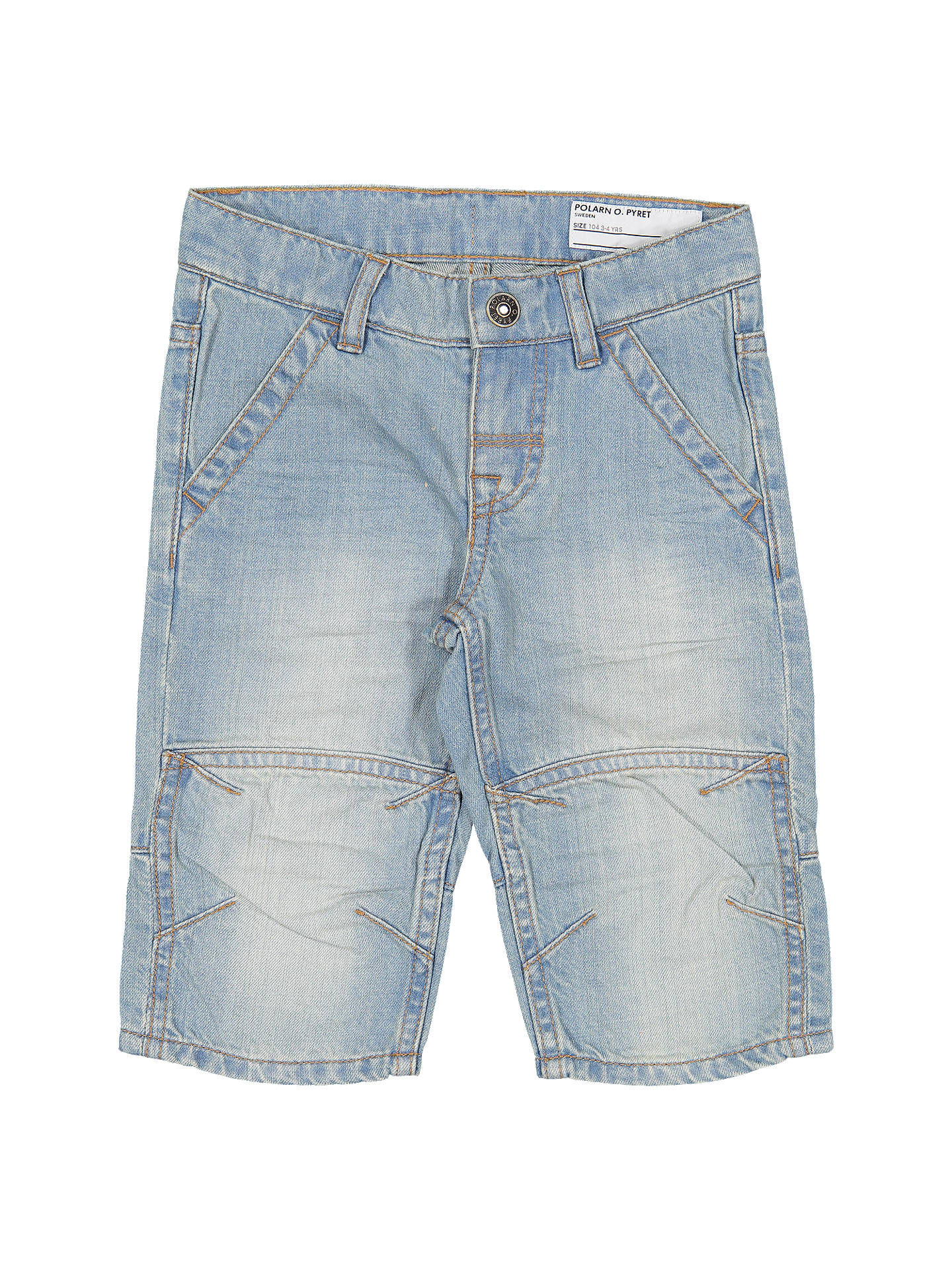 0018f701f623 Buy Polarn O. Pyret Children's Denim Shorts, Blue, 2-3 years Online ...