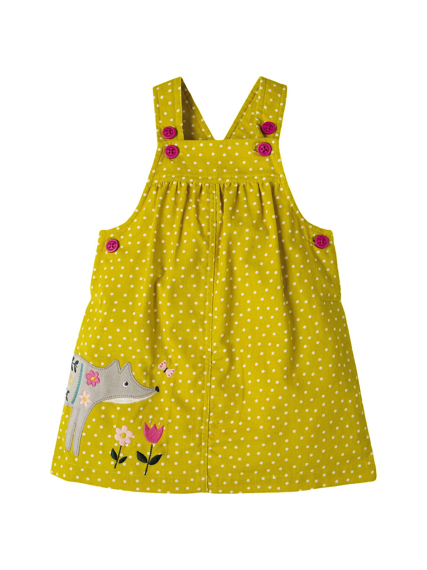 8ec52728a Frugi Organic Baby Tilly Fox Pinafore Dress