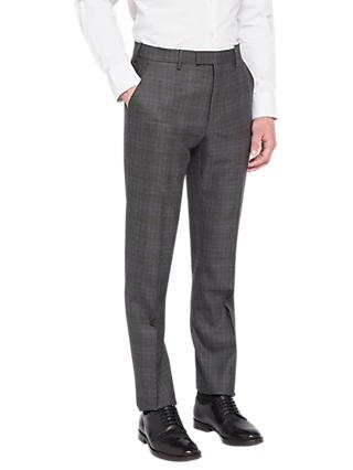 Ted Baker Doverrj Sterling Check Tailored Suit Trousers, Charcoal