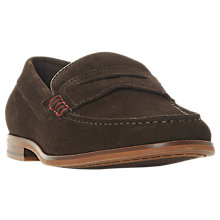 Buy Dune Suede Penny Loafer, Brown Online at johnlewis.com