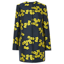 Buy L.K.Bennett Sana Jacquard Coat, Blue/Yellow Online at johnlewis.com