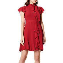 Buy Karen Millen Travelling Frill Dress, Red Online at johnlewis.com