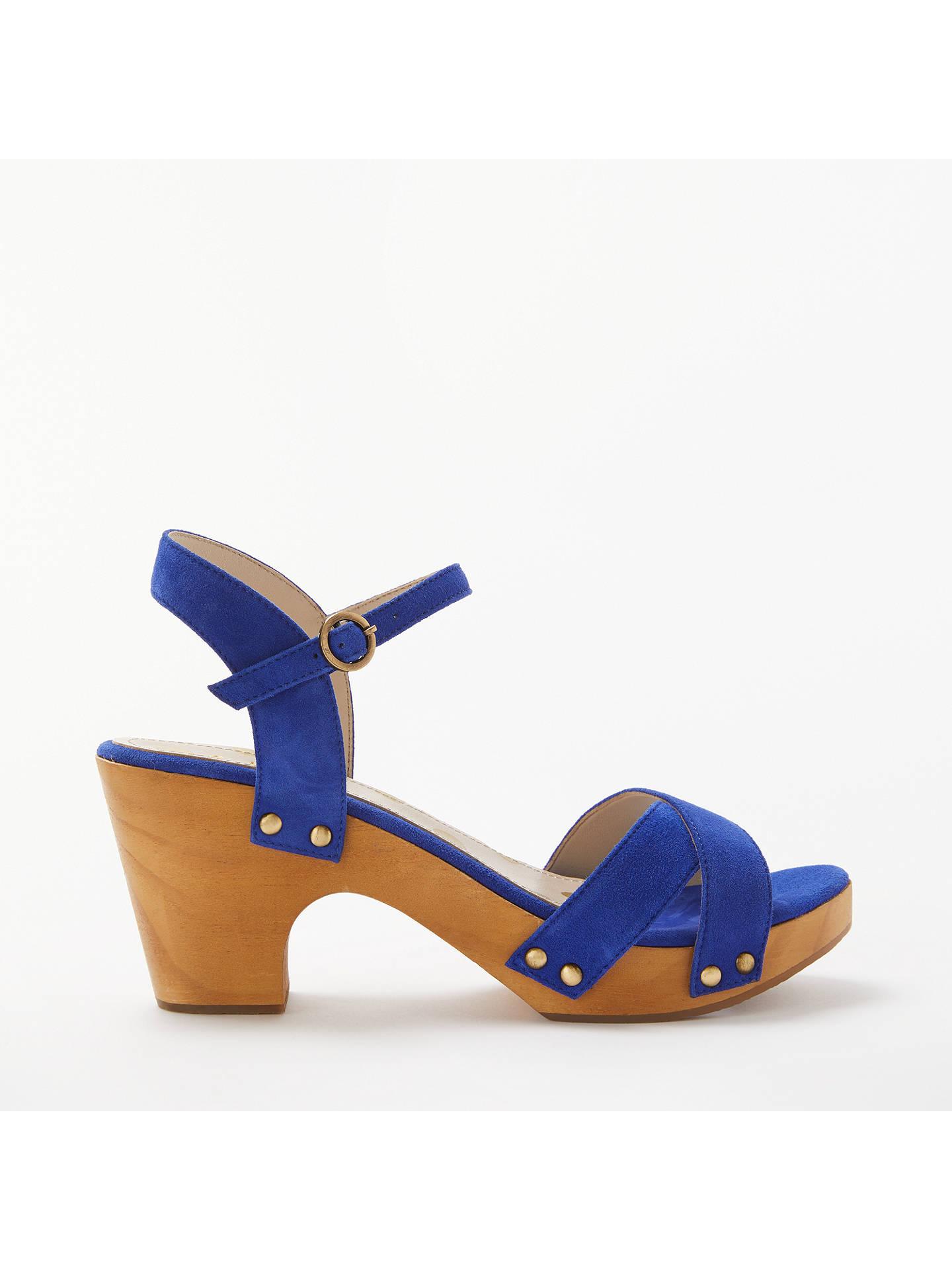 82ca5b4da5894 Buy Boden Olivia Clog Sandals, Blue Suede, 4 Online at johnlewis.com ...