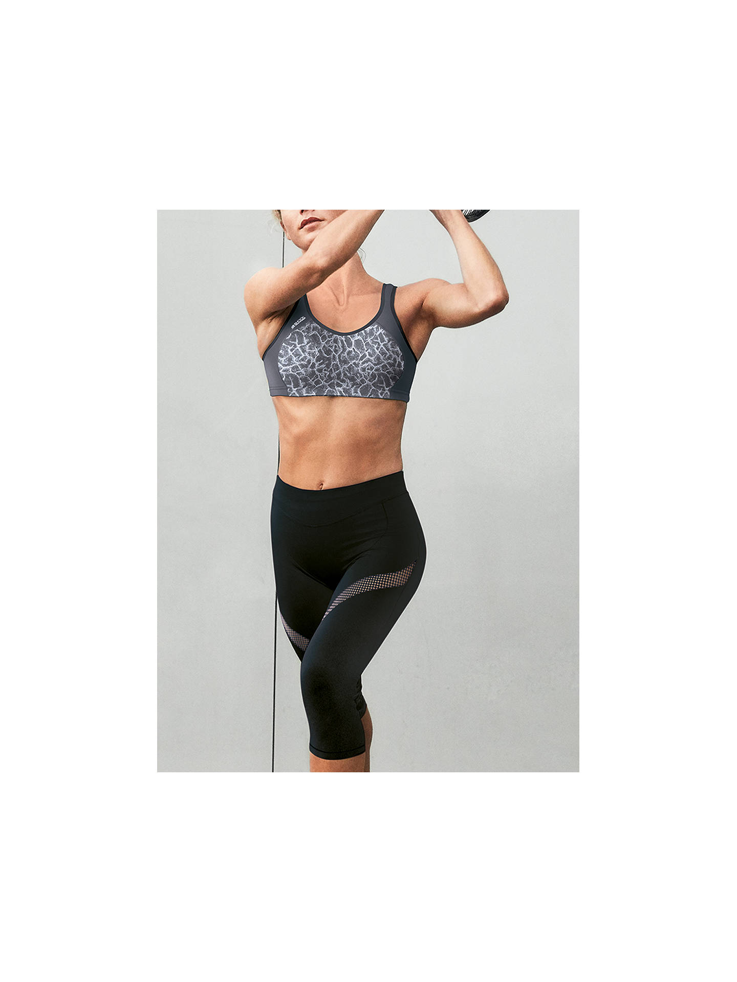 Buy Shock Absorber Active Multi Sports Support Bra, Asphalt Print, 32B Online at johnlewis.com