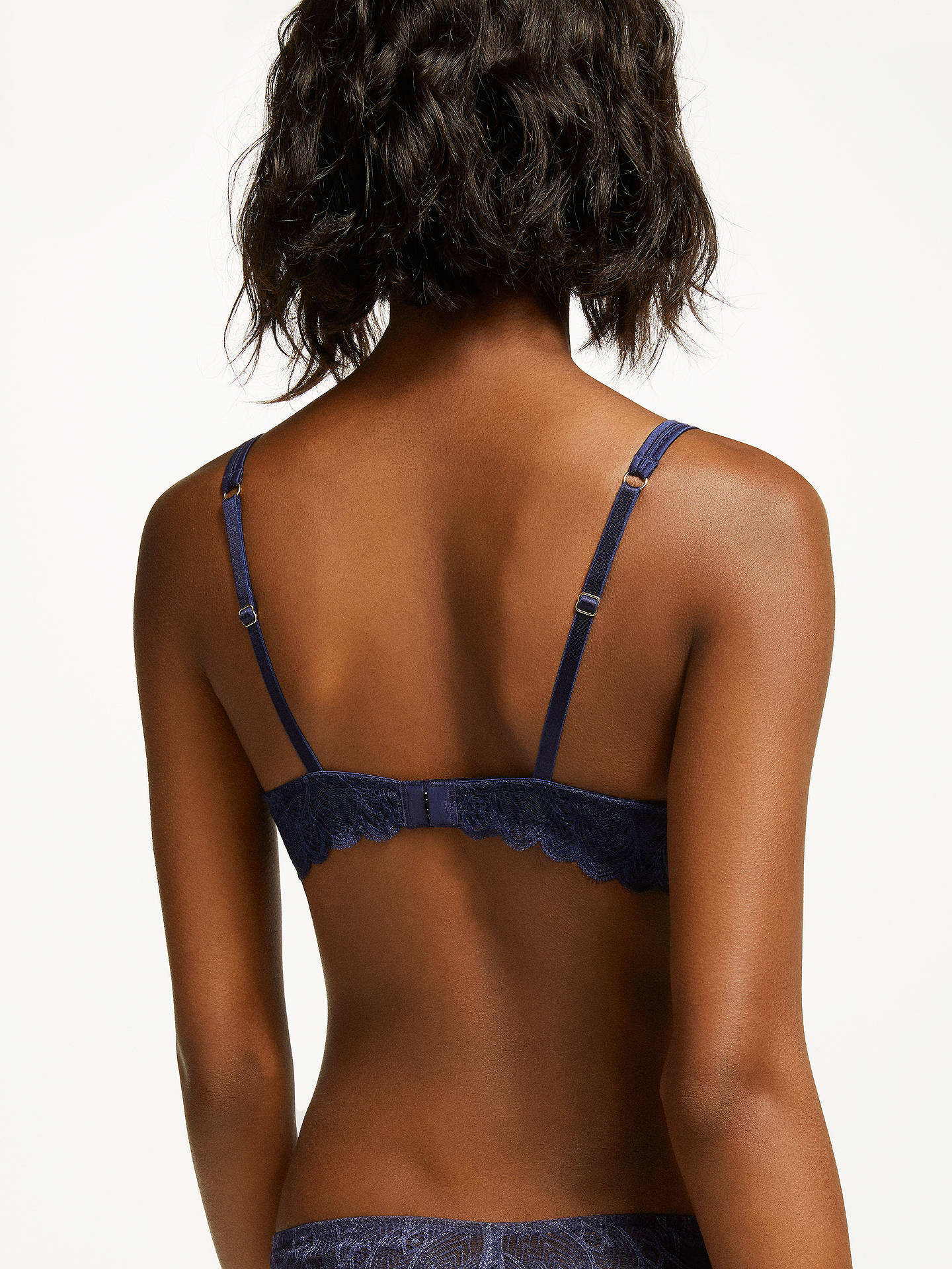 BuyJohn Lewis & Partners Eleanor T-Shirt Bra, Navy, 32D Online at johnlewis.com