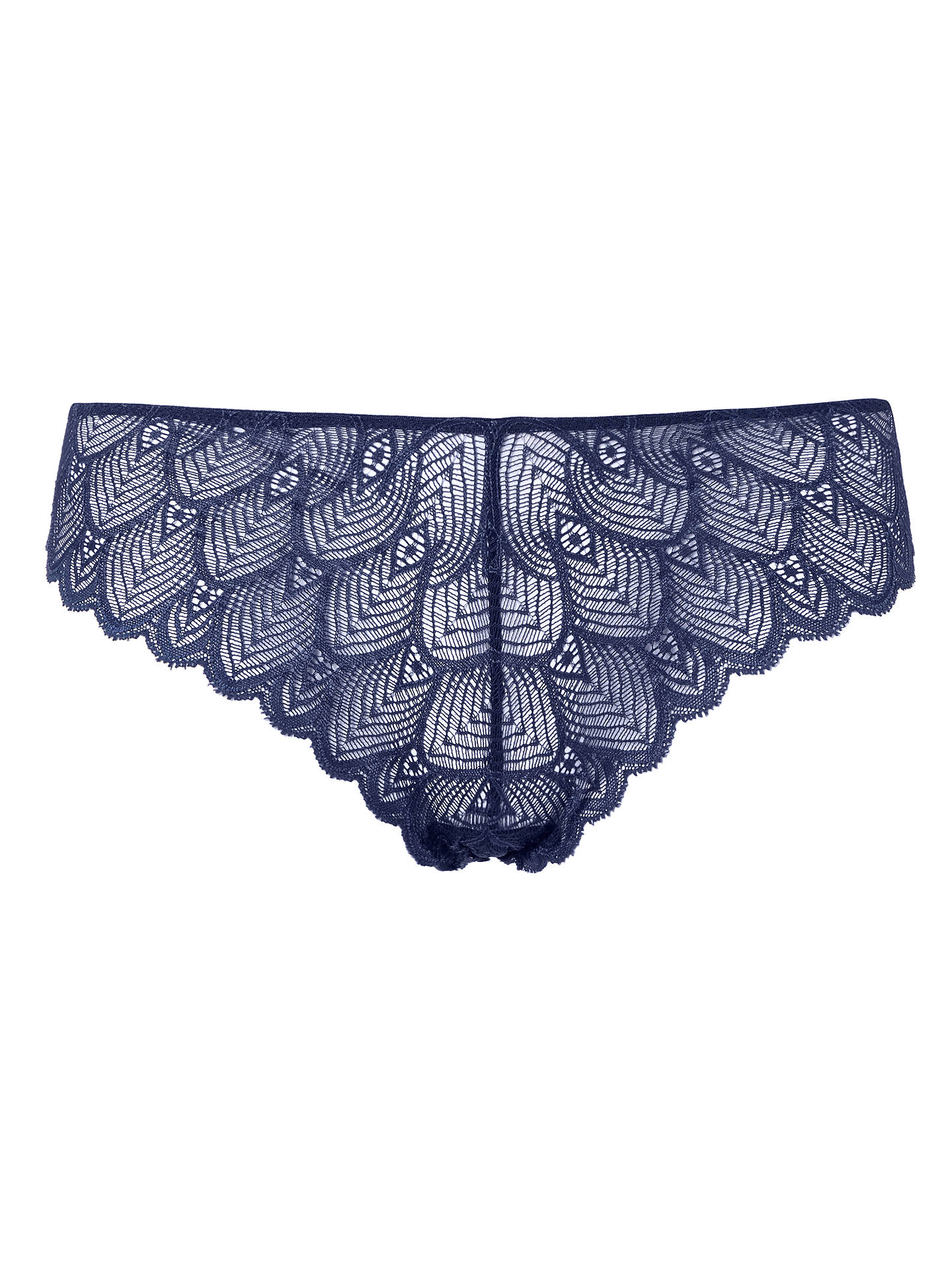 BuyJohn Lewis & Partners Eleanor Lace Briefs, Navy, 12 Online at johnlewis.com