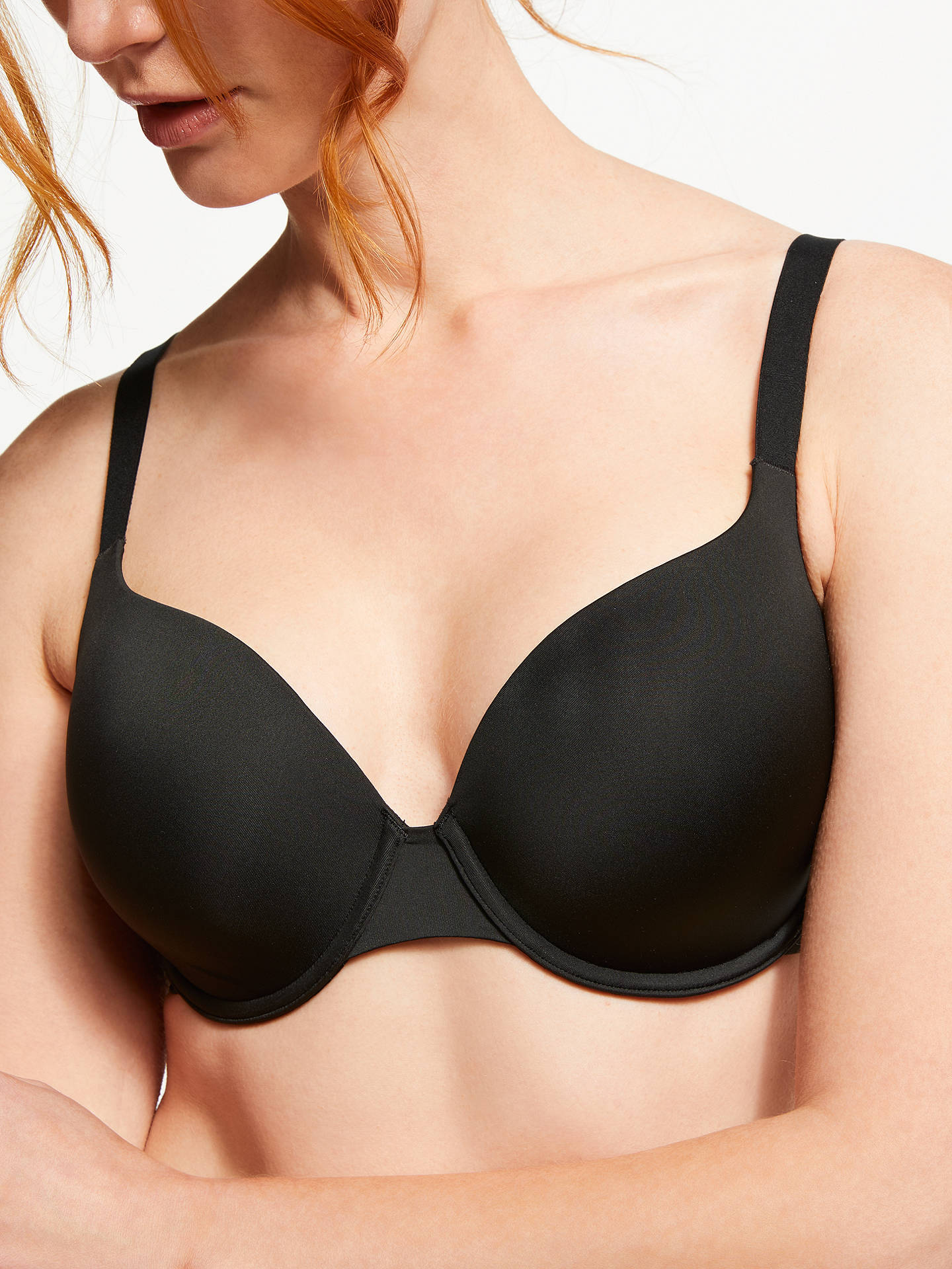 Buy John Lewis & Partners Esme T-Shirt Bra, Black, 32D Online at johnlewis.com