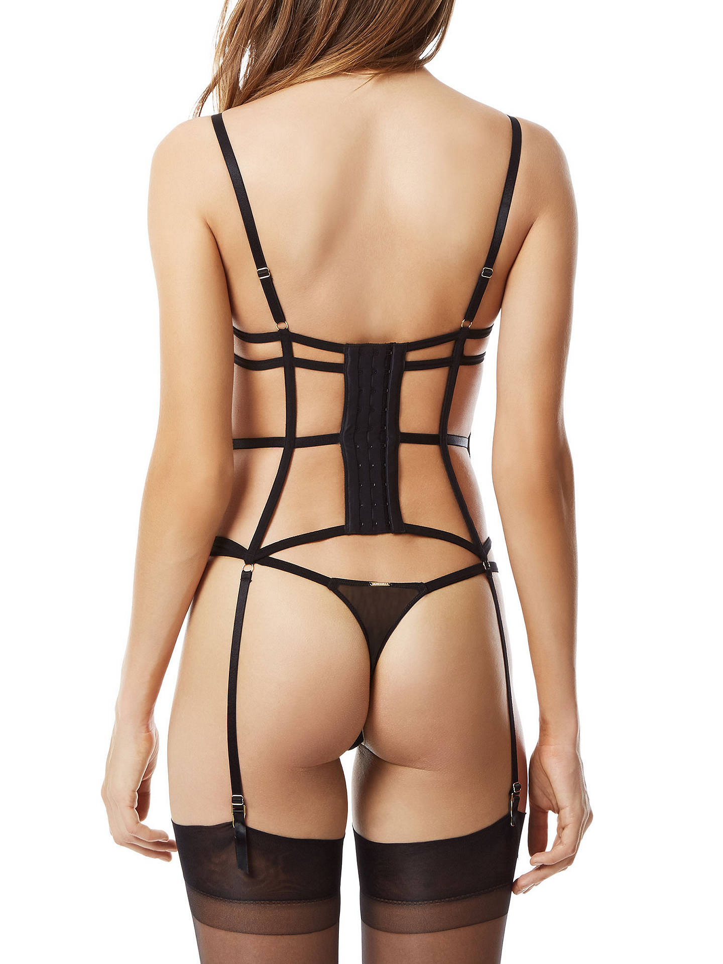 Buy Bluebella Carmen Basque, Black, 30B Online at johnlewis.com