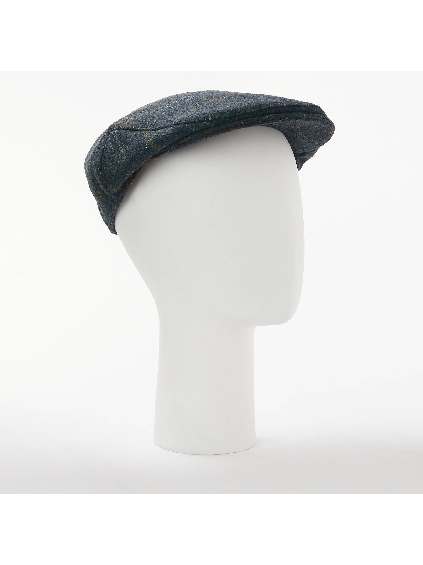 BuyJohn Lewis & Partners Check Flat Cap, Navy, S/M Online at johnlewis.com