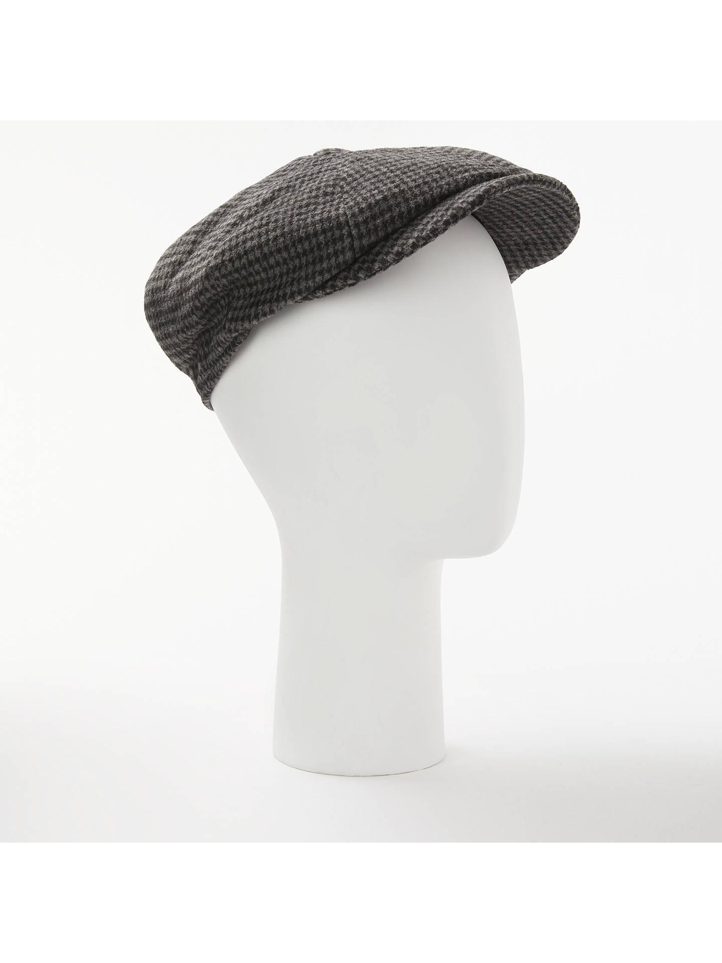 78ae7cc5 Buy John Lewis & Partners Dogtooth Baker Boy Cap, Grey, S/M Online ...