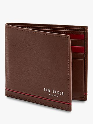 Ted Baker Jeeze Stripe Bifold Wallet, Tan
