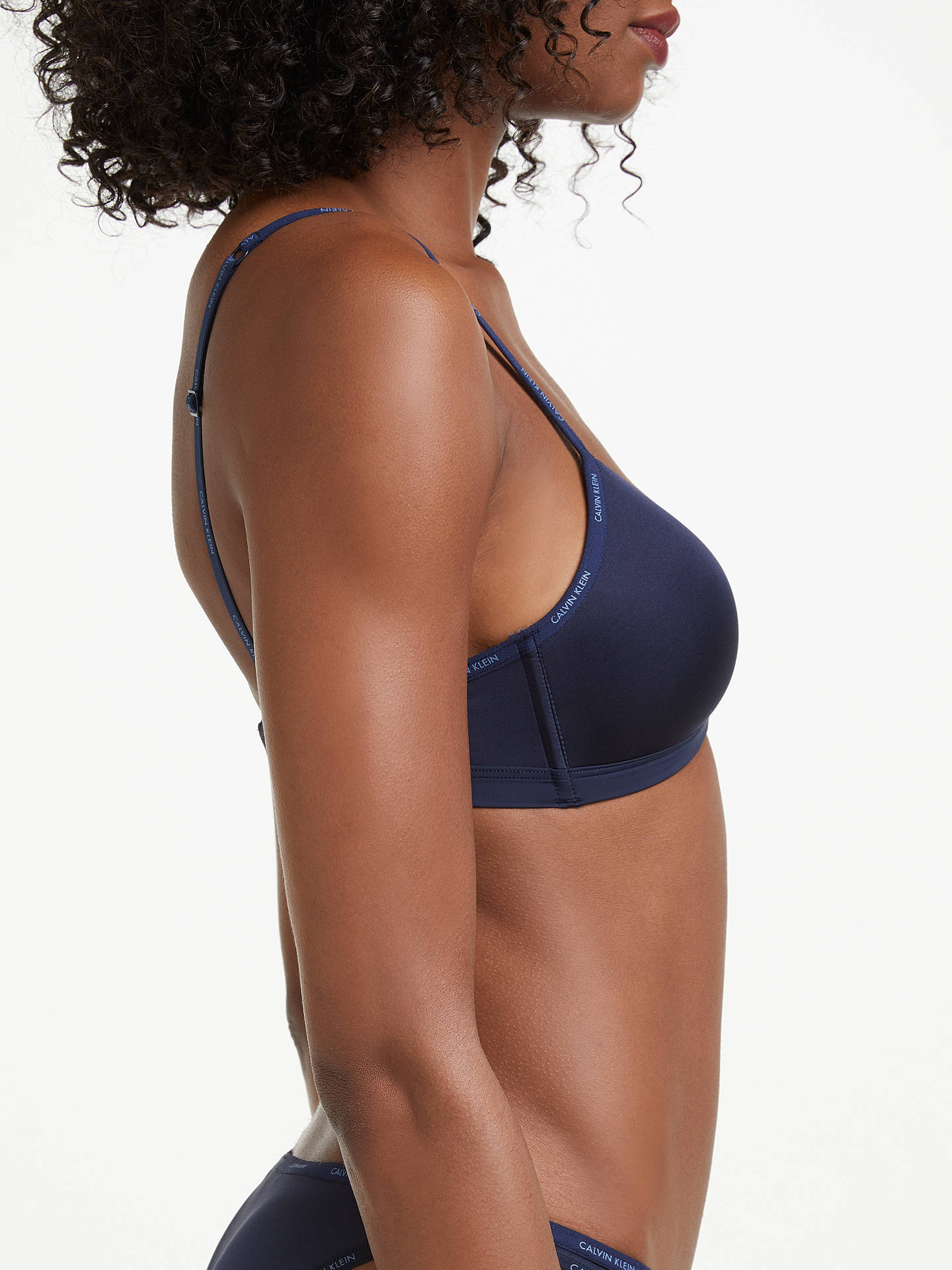 Buy Calvin Klein Underwear Youthful Lined Triangle Bra, Shoreline, S Online at johnlewis.com