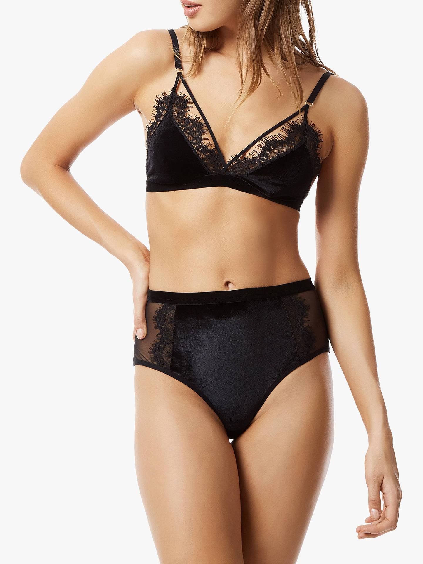 BuyBluebella Nina High Waist Briefs, Black, 8 Online at johnlewis.com