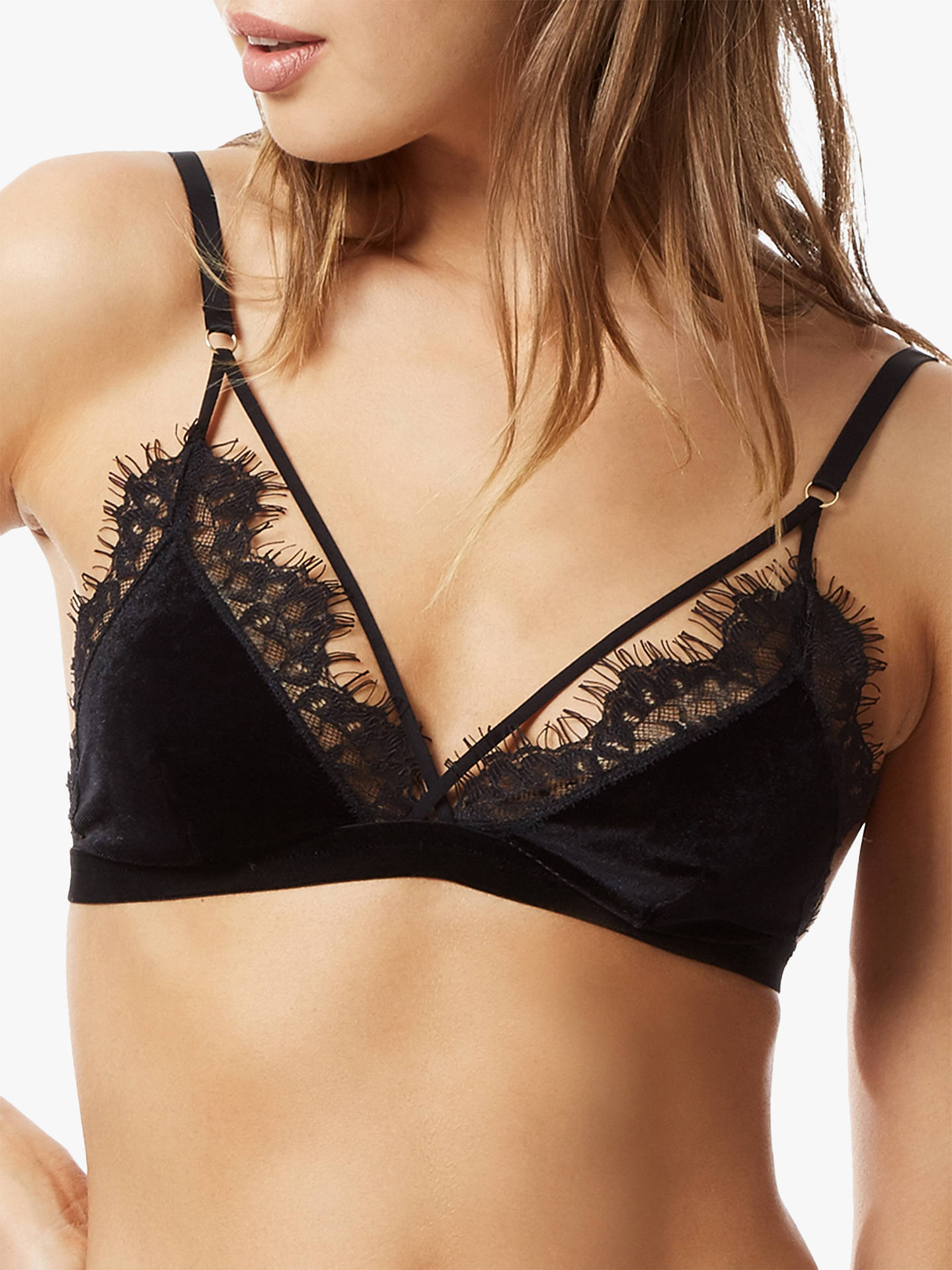 Buy Bluebella Nina Soft Bra, Black, XS Online at johnlewis.com