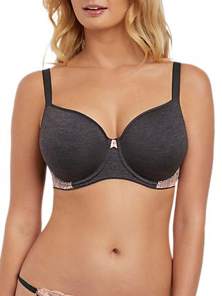 Freya Chi Moulded T-Shirt Bra, Charcoal