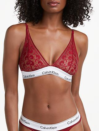 0d2b680d4dc Calvin Klein Modern Cotton Lace Triangle Bra