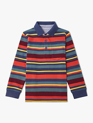 John Lewis & Partners Boys' Stripe Rugby Top, Multi