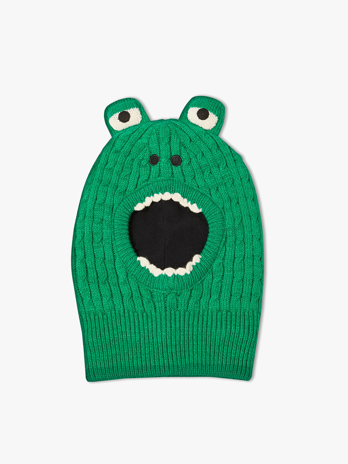 589d0ada3 John Lewis & Partners Children's Crocodile Balaclava Hat, Green at ...