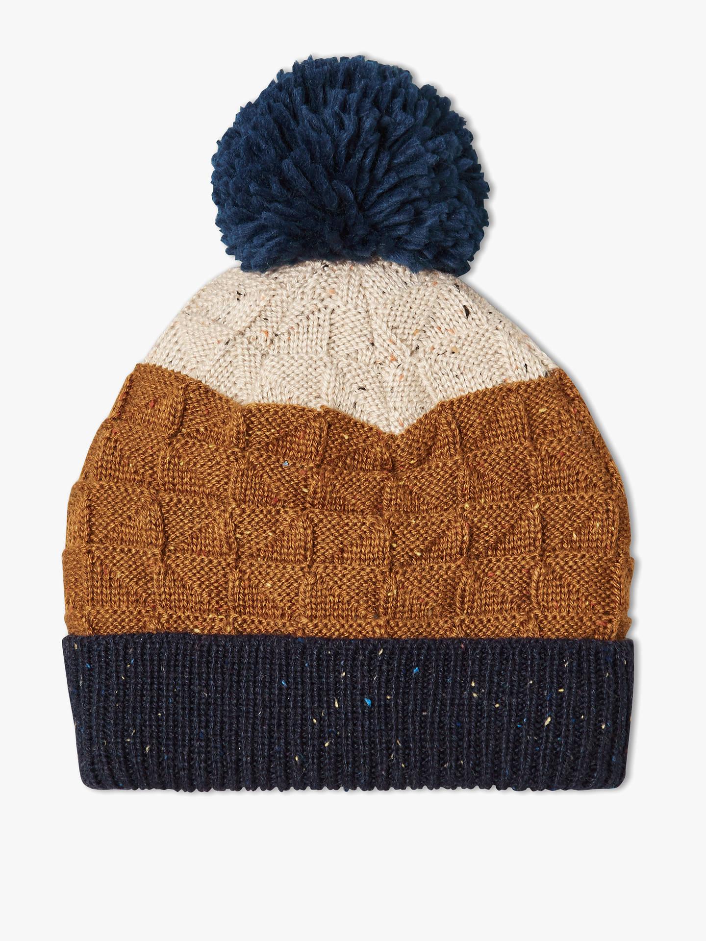 67af4fba25d John Lewis   Partners Children s Nep Geometric Texture Beanie Hat at ...