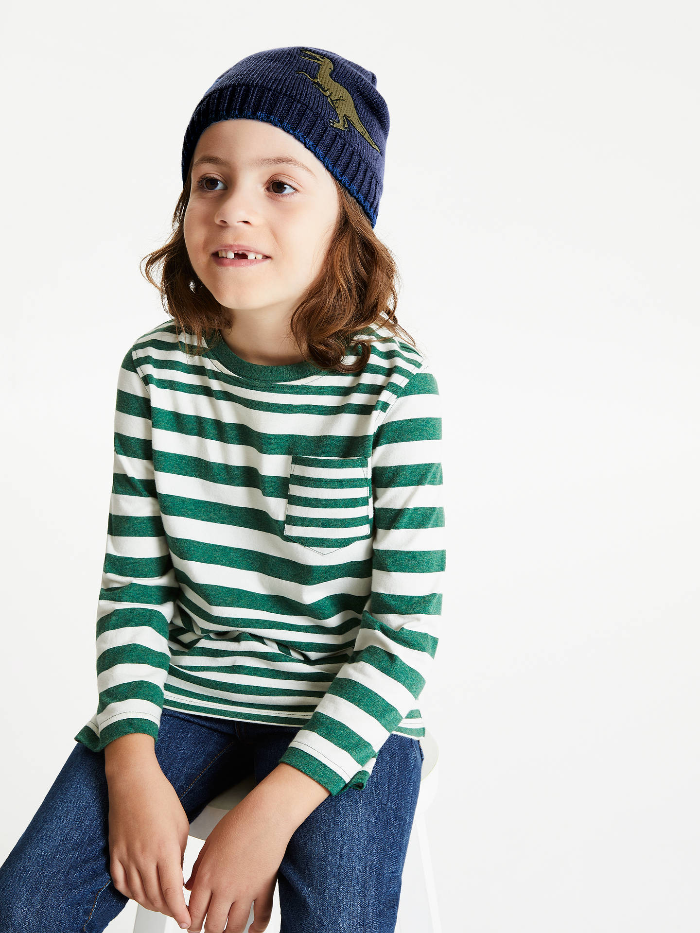 BuyJohn Lewis & Partners Children's Dinosaur Beanie Hat, Navy, 3-5 years Online at johnlewis.com