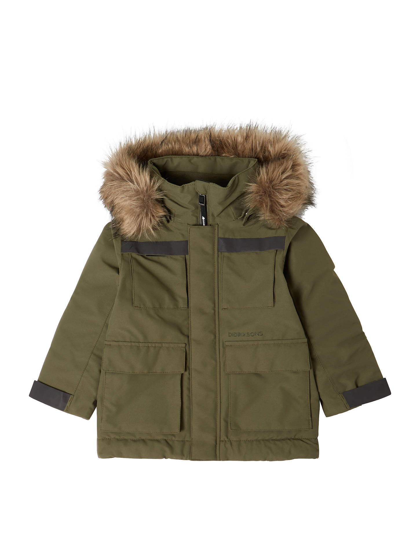 e70e1230 Buy Didriksons Boys' Norden Parka Jacket, Green, 2 years Online at  johnlewis.