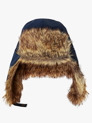 Buy John Lewis & Partners Children's Ski Trapper Faux Fur Hat, Navy, 3-5 years Online at johnlewis.com
