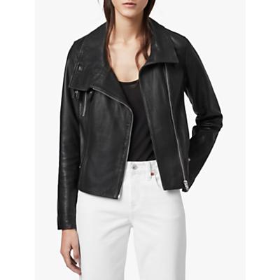 Image of AllSaints Bales Biker Jacket, Black